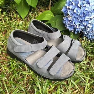 Propet Women's Blue Suede Sandals